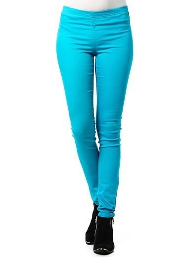 Vero Moda Vero Moda Dar Kesim Pantolon Mavi